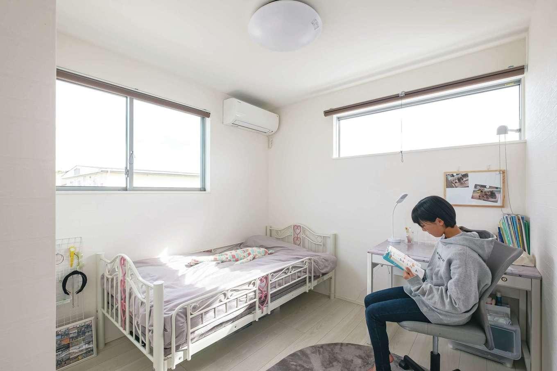 ティアラホームスタイル【デザイン住宅、間取り、ペット】個室は必要最小限のサイズ。でも念願のマイルームに満足感は充分