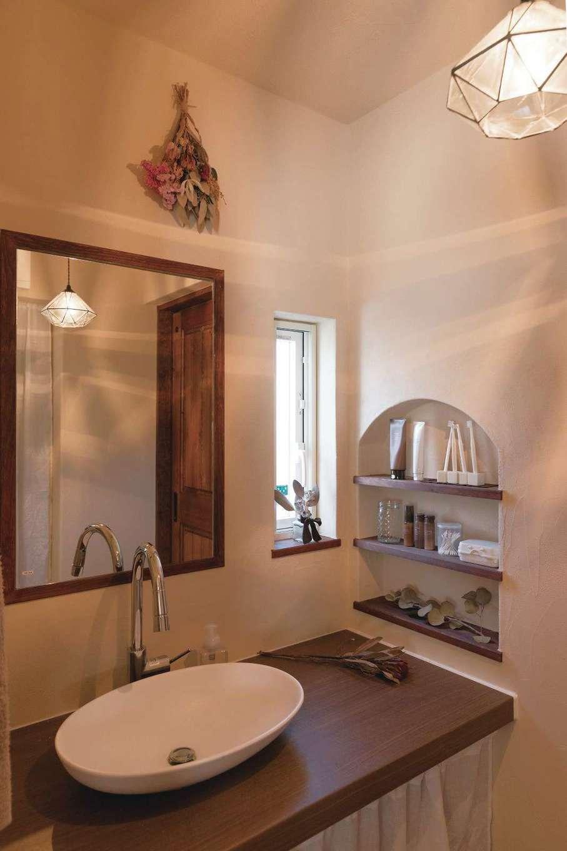 アイジースタイルハウス【デザイン住宅、子育て、自然素材】細部まで奥さまのこだわりが凝縮された洗面室