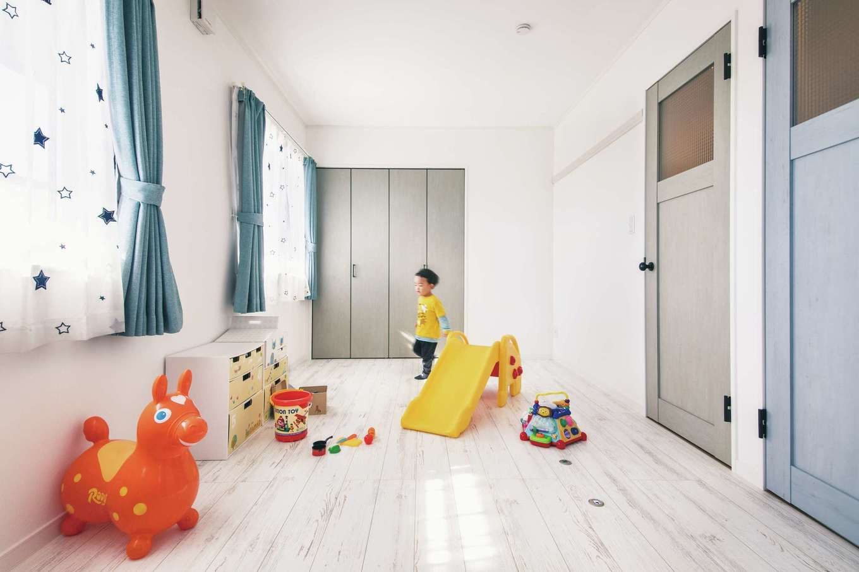 アイフルホーム 掛川店【デザイン住宅、子育て、間取り】子ども部屋は将来的に2部屋に仕切れるような間取りに