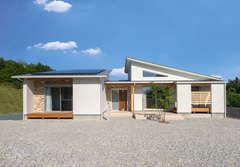 洗練された空間に光と風が心地よく巡る平屋の家