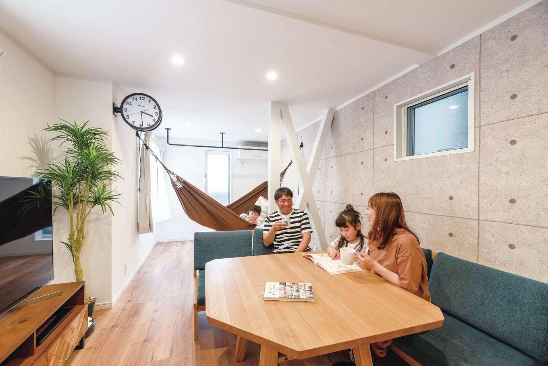irohaco (アヴァンス)【子育て、二世帯住宅、狭小住宅】視界が抜ける子世帯の2階リビング