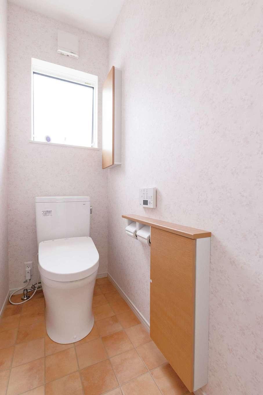 2つあるトイレはかわいらしいピンクと、爽やかなブルーをチョイス