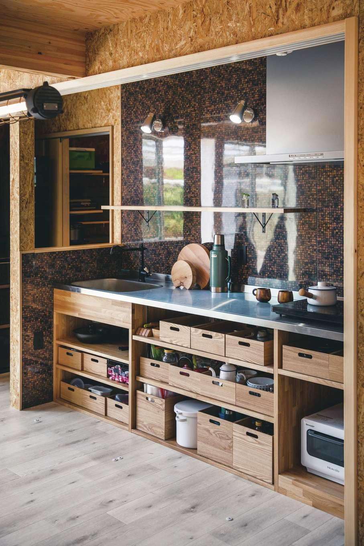 T-style 【1000万円台、趣味、ペット】引き戸でサッと隠せるオリジナルの造作キッチン