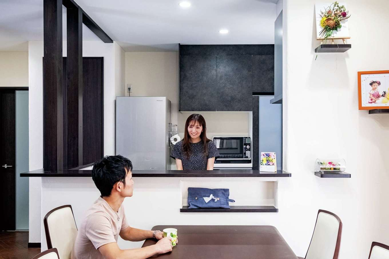 キッチンにも数多くの収納スペースを設けた