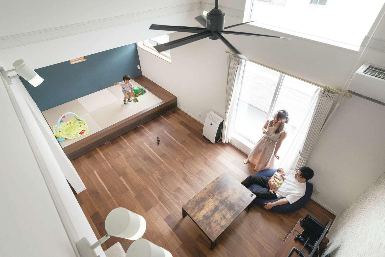 アイワホームサービス【デザイン住宅、収納力、間取り】ロフトにいながらも家族の気配を感じられる