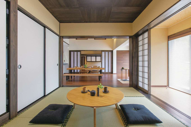 深見工務店 S-style|広縁の位置はそのままに、明るく開放的に生まれ変わった和室。大勢の親戚が集まっても余裕の広さ
