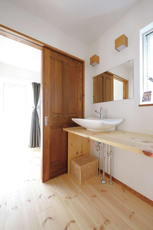 アイジースタイルハウス【デザイン住宅、自然素材、間取り】造作の洗面台