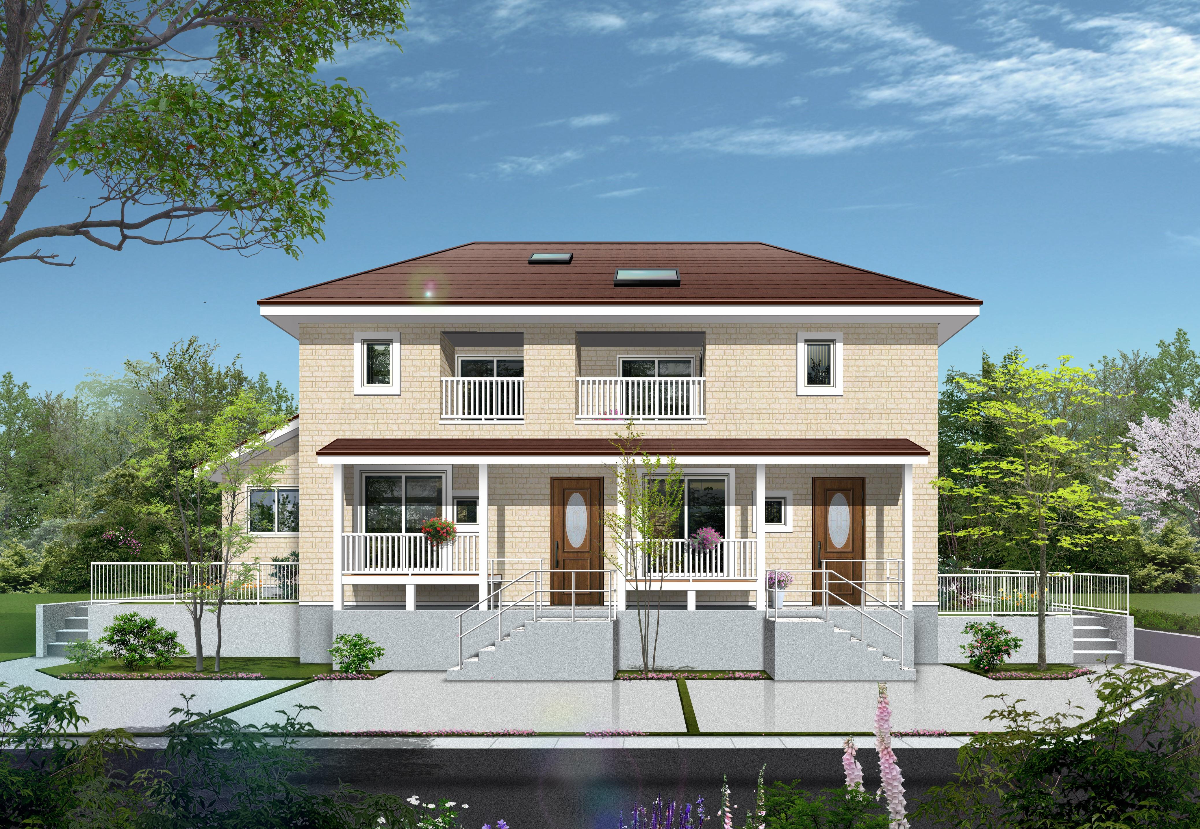 豊田市に「丘の上の可愛い二世帯住宅」建築中です!