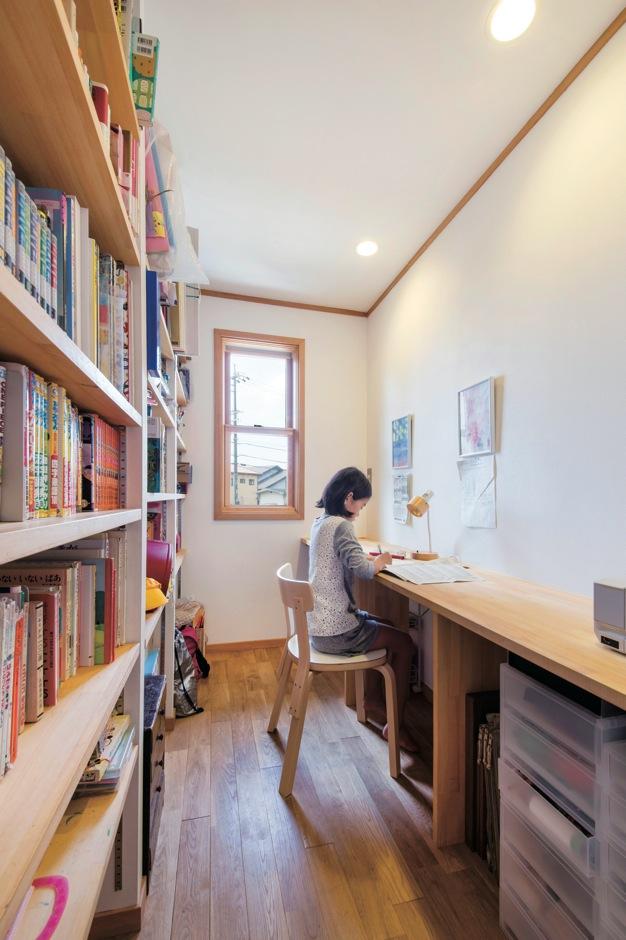 スカイグラウンド【1000万円台、デザイン住宅、平屋】室内は、古き良き日本家屋の形式を取り入れた続き部屋。勉強部屋はLDKと子ども部屋の間に設けた