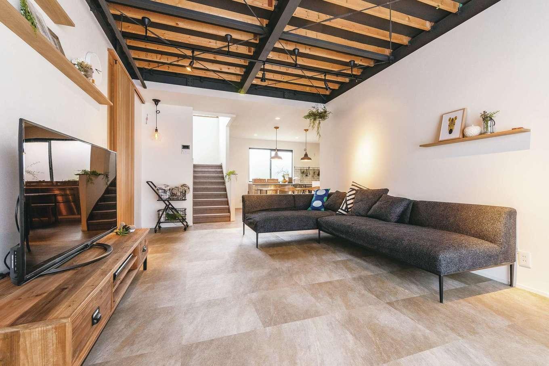 ホームプラザ大東|現しの鉄骨がF邸ならではの個性を生む。一級建築士により建物の持ち味が引き出された