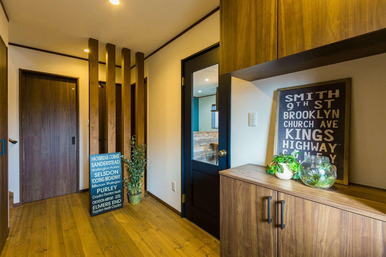 シャレオハウス【豊橋市吉川町65-1・モデルハウス】木の香りがお客様を優しく迎える玄関