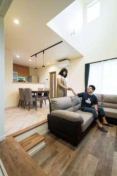 「快乾空間🄬」にひと目ぼれ! 共働き夫婦が叶えた家事ラクの家