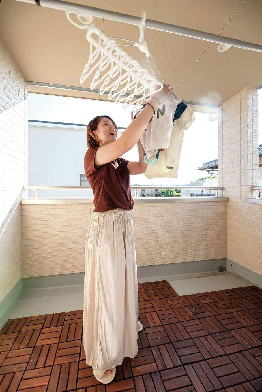 irohaco (アヴァンス)【1000万円台、子育て、間取り】洗濯物が雨に濡れにくいインナーバルコニーは共働き夫婦のマストアイテム