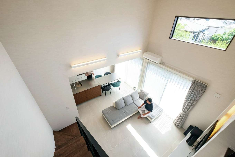 藤井建築事務所 -delphi-【デザイン住宅、建築家、インテリア】これほどの大空間でも、高い断熱・気密性により、冷暖房効率を落とさず、家中の温度差を少なく保つ
