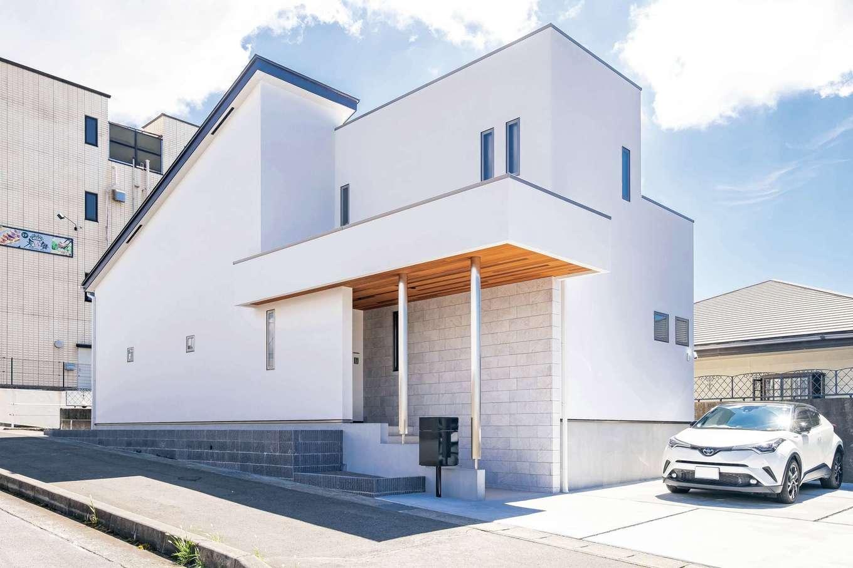 藤井建築事務所 -delphi-【デザイン住宅、建築家、インテリア】周囲の景観に馴染みながら、さり気なく個性を主張した独創的な外観デザイン