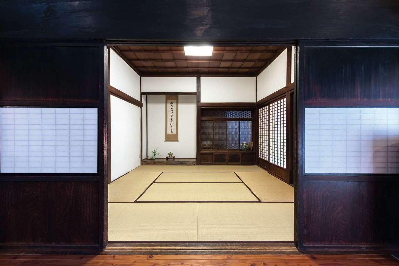 建杜 KENT(大栄工業)|床の間のある和室は、畳の張り替えと漆喰の塗り直しのみの改修にして、110年前の面影をそのままに