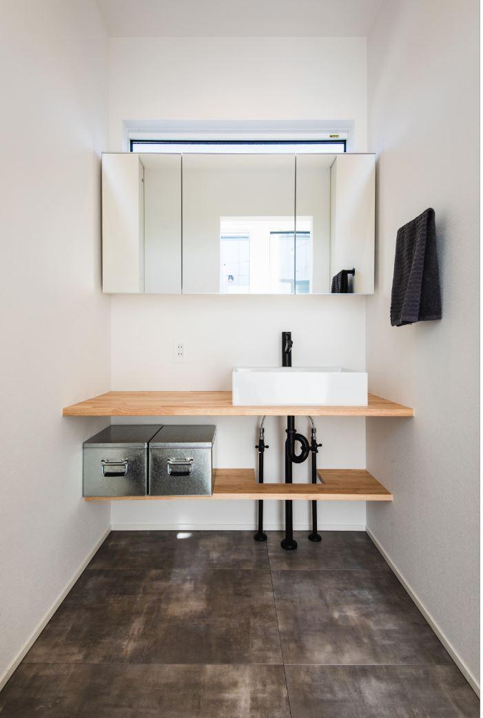 S.CONNECT(エスコネクト)【デザイン住宅、建築家、平屋】使いやすさとデザイン性を重視した造作の洗面台