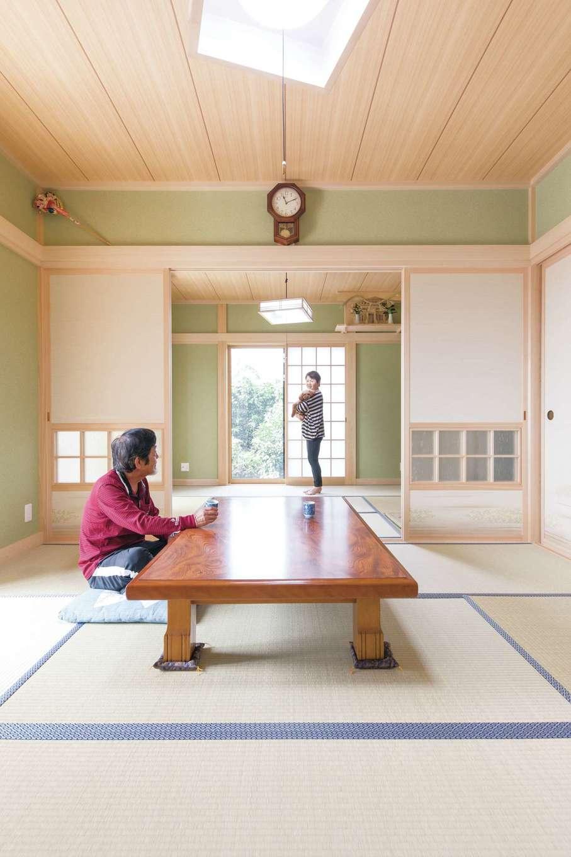 橋本組 ~つむぐ家~【和風、省エネ、ペット】和室は清々しい仕上がり。奥には本格的な床の間を用意