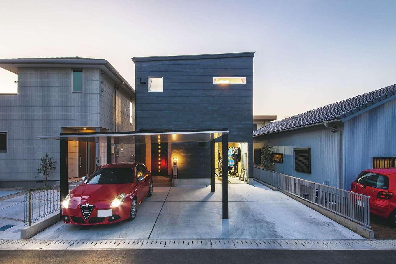 未来創建【デザイン住宅、省エネ、ペット】ZEH、BELSの家でランニングコストを抑えた低燃費で健やかな暮らしを実現。カーポートもおしゃれ