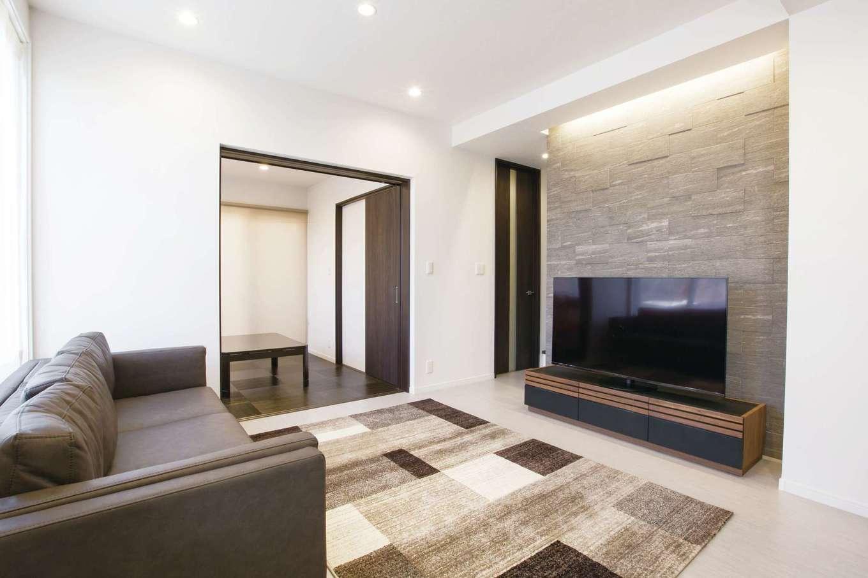デザインハウス【デザイン住宅、スキップフロア、インテリア】リビングの隣にはキッズルームがある