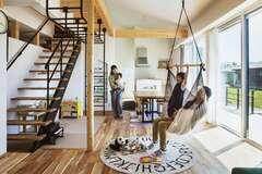 """建築家と一緒につくりあげた """"子どもと思い切り遊べる家"""""""