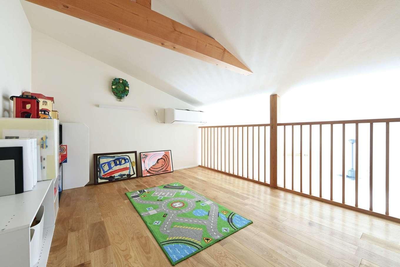 低燃費住宅 静岡(TK武田建築)【子育て、自然素材、省エネ】ロフトは子ども部屋にするもよし、物置にするもよし。その時の家族の状況に応じて柔軟に対応できる便利なスペース