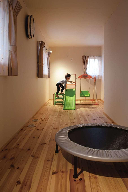 ぴたはうす 安食建設【デザイン住宅、和風、省エネ】2階の子ども部屋は将来仕切ることも可能