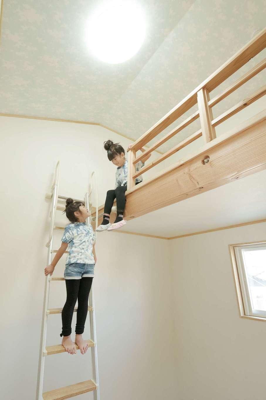 トモロハウス(エスライフ)【子育て、自然素材、間取り】子ども部屋のロフトはご主人の希望で実現