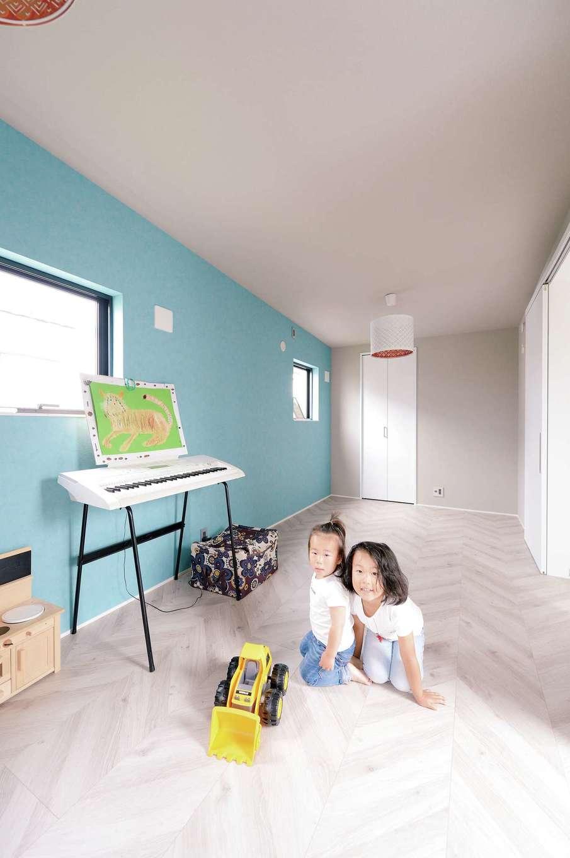 MABUCHI【デザイン住宅、建築家、ガレージ】成長に応じて間仕切り可能な2階の子ども部屋
