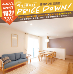 全館空調の家具付モデルハウスが大幅値下げ!