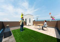 便利、爽快感、ワクワクも屋上庭園と秘密基地のある家