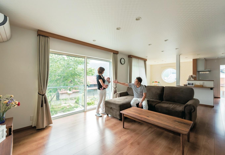 暖かさと開放感を両立した 「富士産eco 断熱」の家