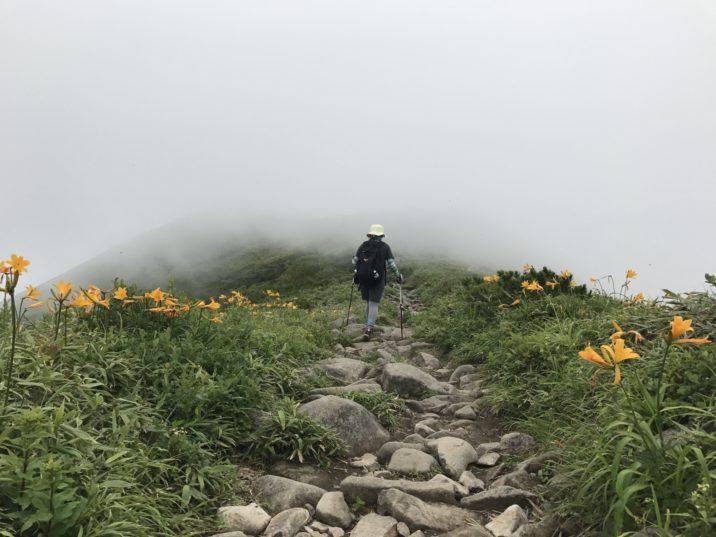 アンヌプリ山頂付近尾根
