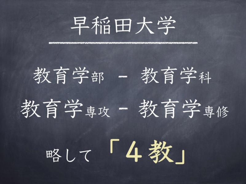 早稲田大学教育学部教育学科の説明資料