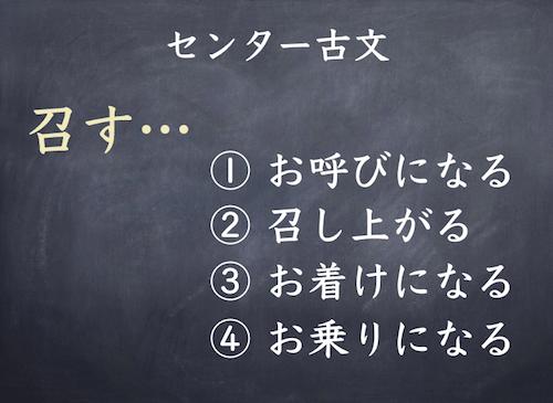 センター古文 単語暗記の重要性