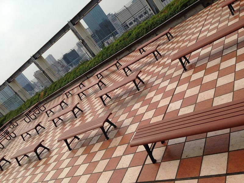 共立女子大学の屋上ラウンジ