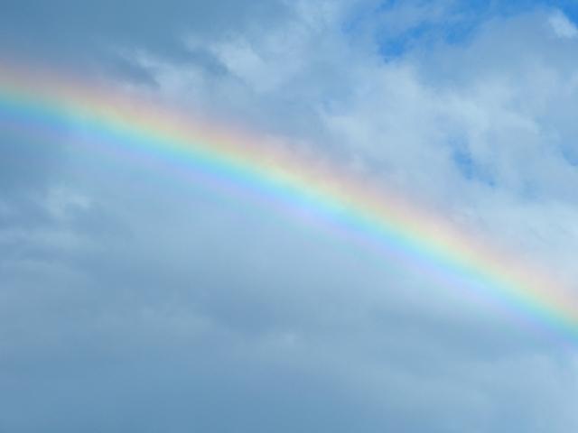大学受験の物理分野の波動で使われる虹の写真