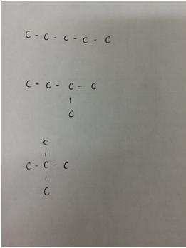 異性体の書き出しと化学式