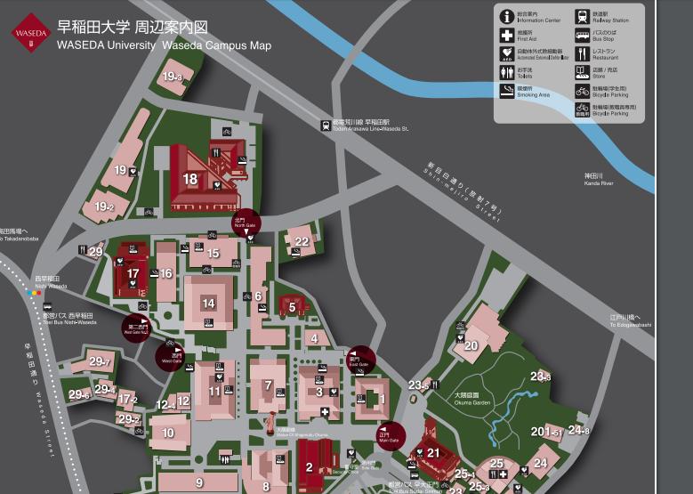 早稲田大学周辺案内図