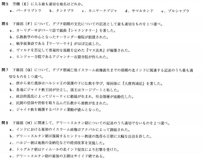 早稲田社学 世界史2