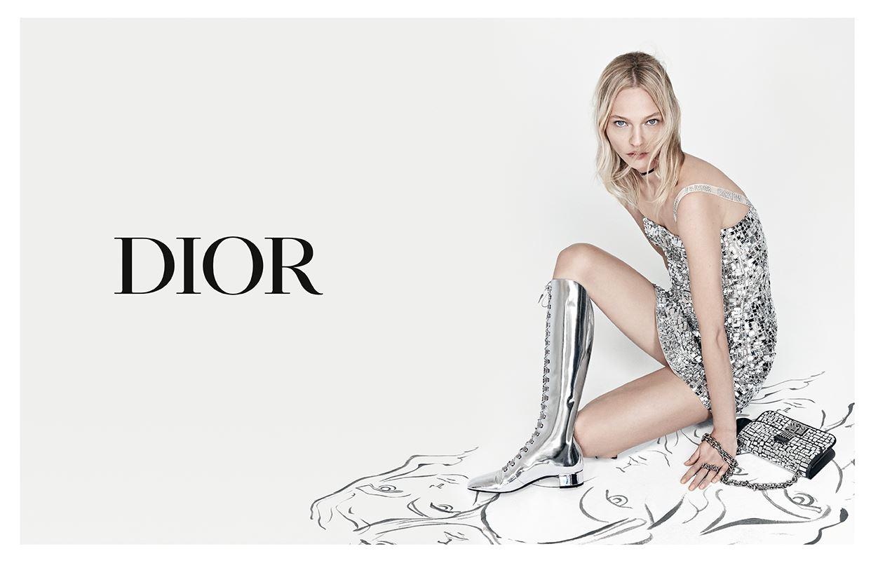 「Dior」2018春夏モデルのサーシャ・ピヴォヴァロヴァ(提供写真)