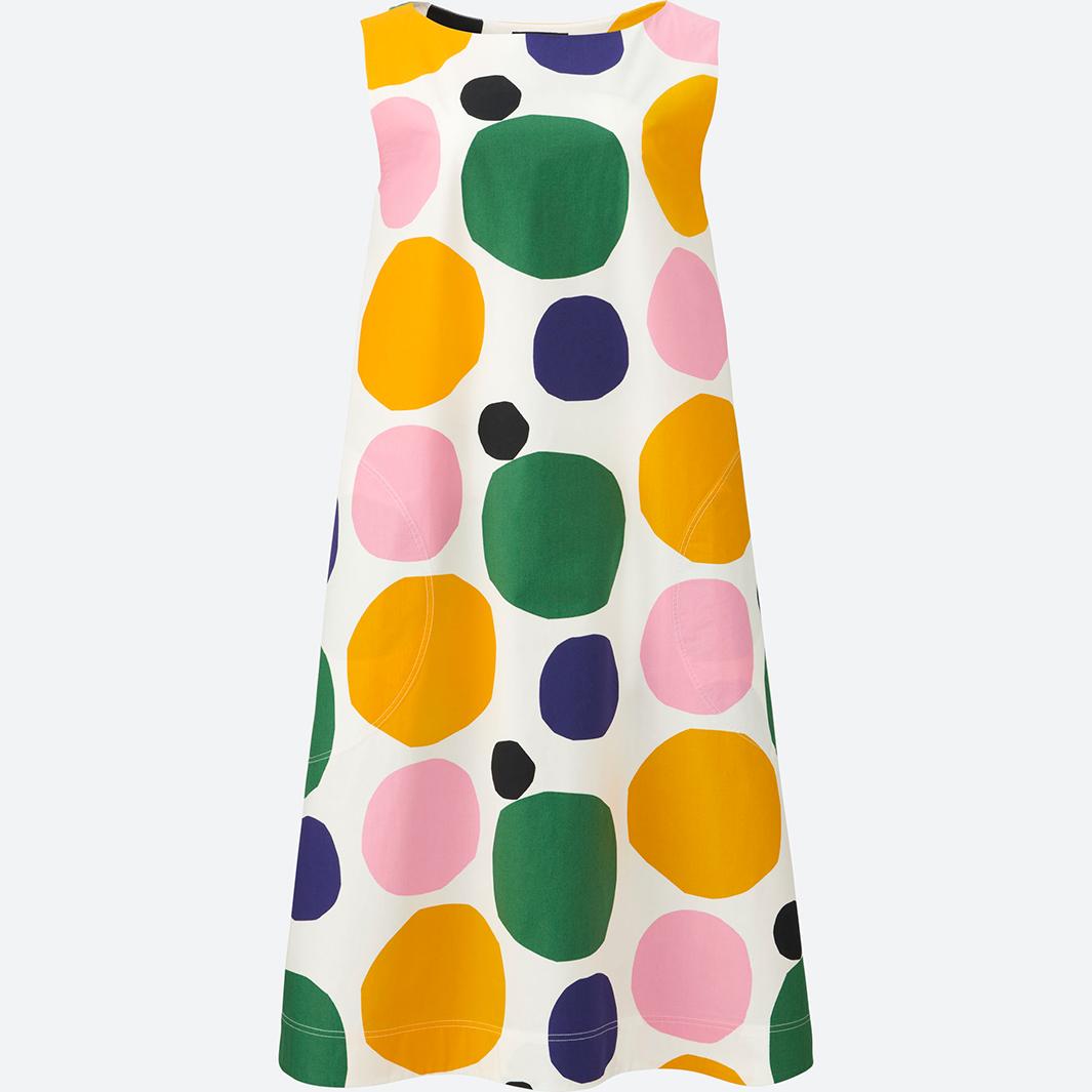 UNIQLO×Marimekko グラフィックワンピース(ノースリーブ)(1型3色柄)¥3,990(提供写真)