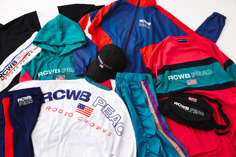 「RODEO CROWNS WIDE BOWL」の新ライン「RCWB PEAC」(提供写真)