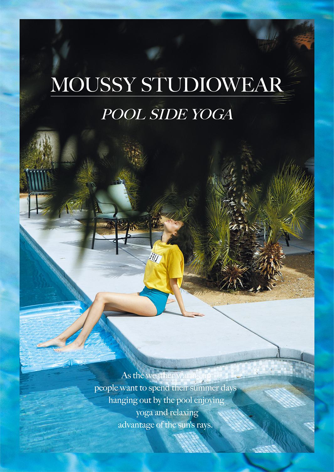 「MOUSSY STUDIOWEAR」夏コレクション登場(提供写真)