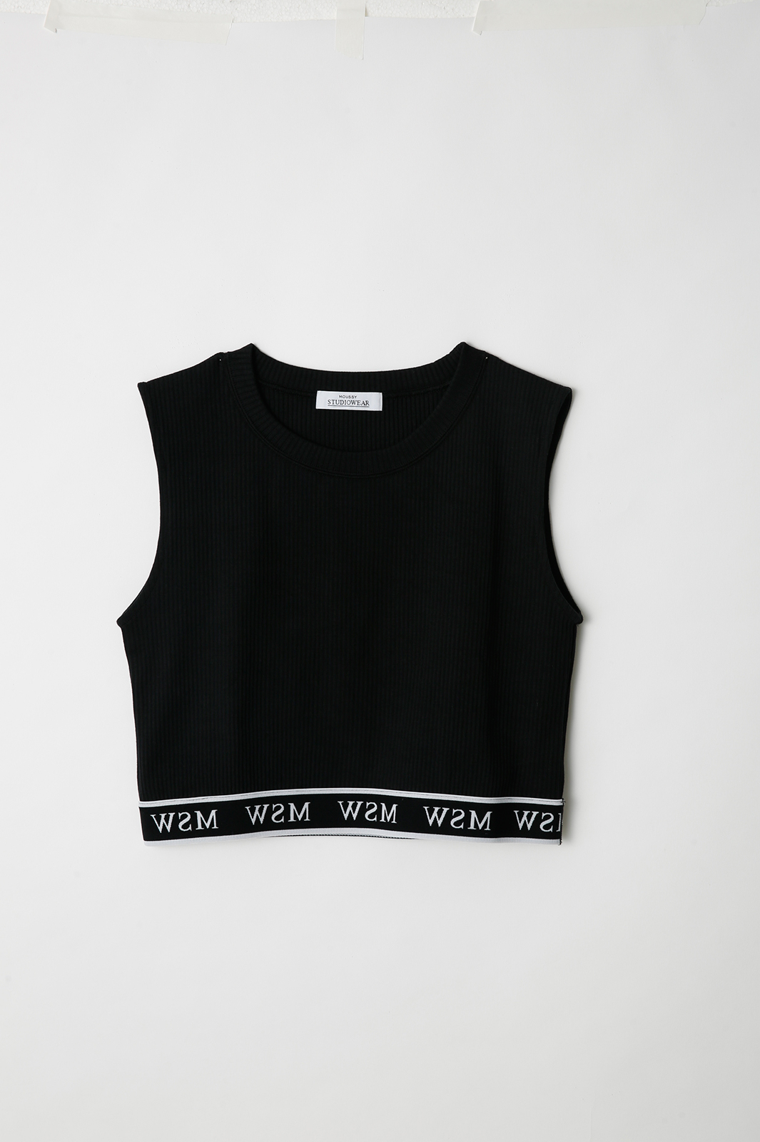 SW LOGO NO SLEEVE CROP TOPS(¥3,980+税)COLOR:BLK、L/RED、O/WHT(提供写真)