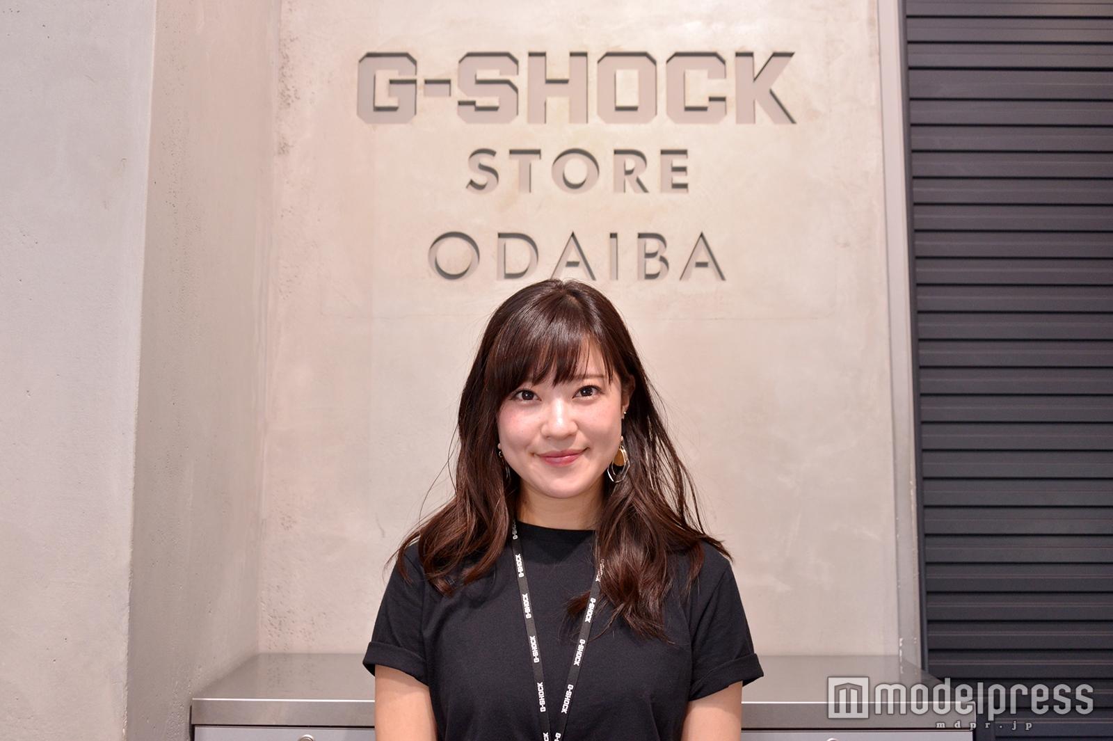 「BABY-G」販売スタッフの永田亜季子さん(C)モデルプレス