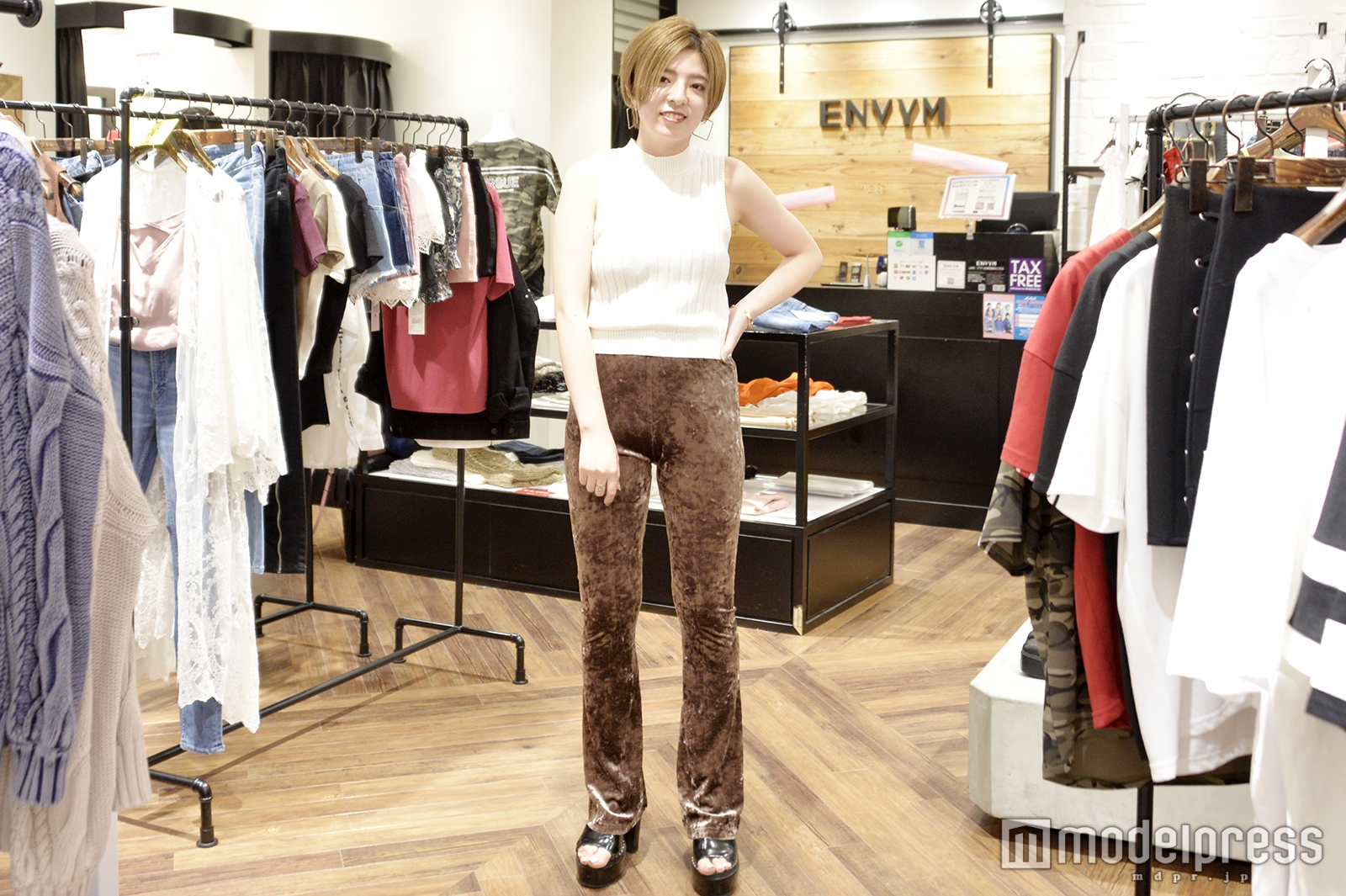 「ENVYM」渋谷109店で取材を実施(C)モデルプレス