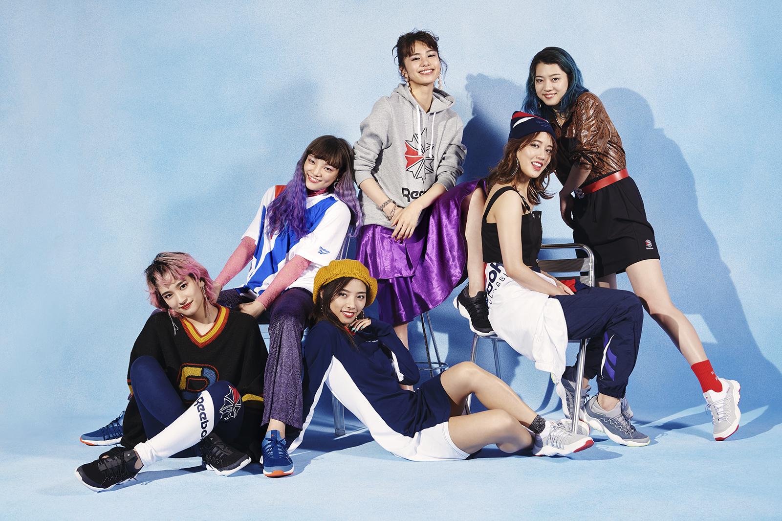 「Reebok」キービジュアルに起用されたE-girls(提供写真)