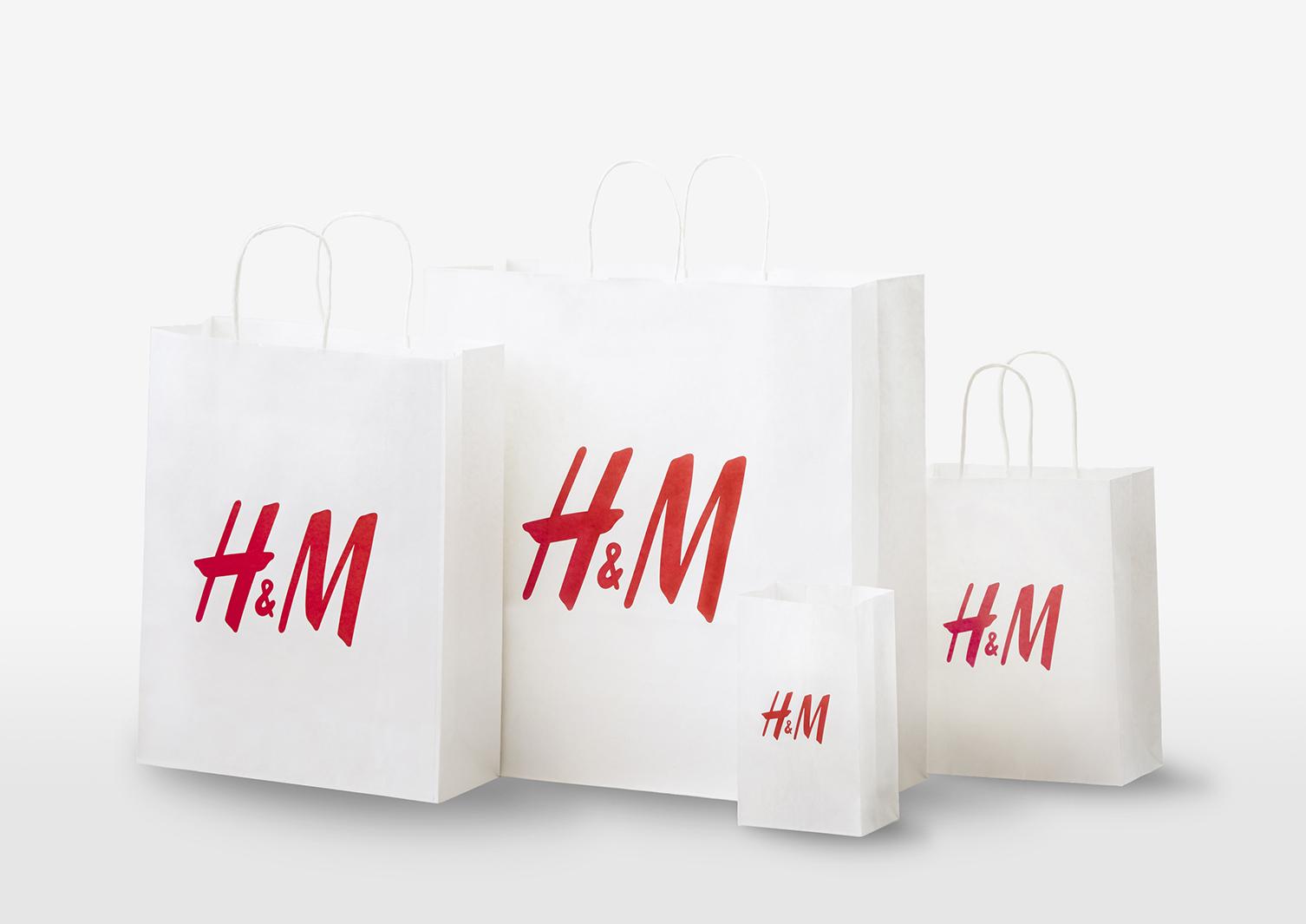 「H&M」ショッピングバッグ有料化&紙製化へ(提供写真)