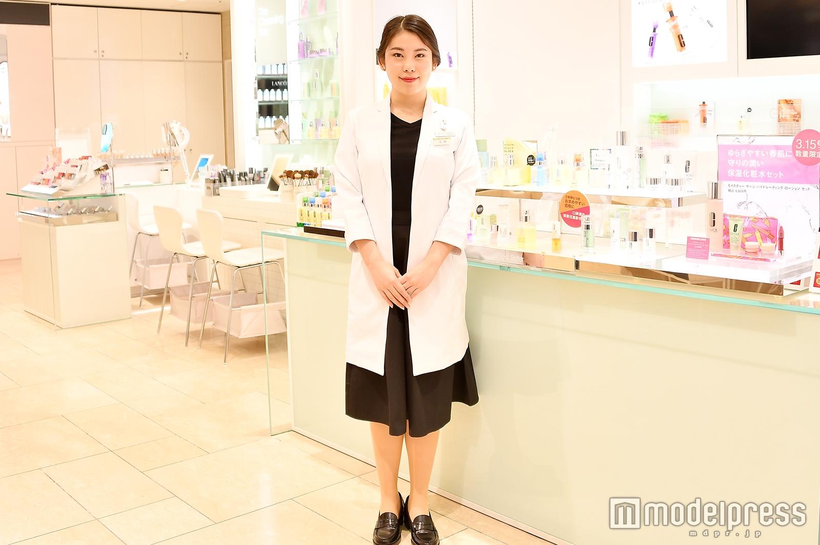 「クリニーク」三越銀座店で取材を実施(C)モデルプレス